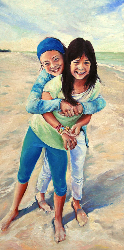 Family portrait paintings by francene Christianson