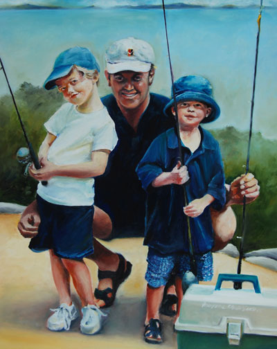 Francene Christianson will paint your family portrait