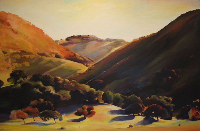 """The Bluffs"", California wine country original landscape painting by Francene Christianson"