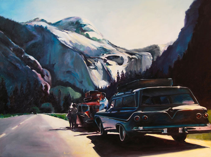 oil painting of Yosemite Skyline by Francene Christianson