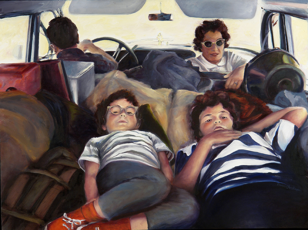 1963 Road Trip , painting by Francene Christianson