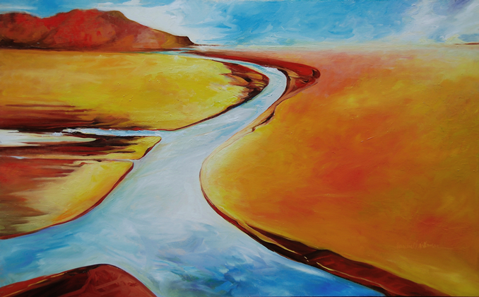 Above the Divide landscape painting by Francene Christianson