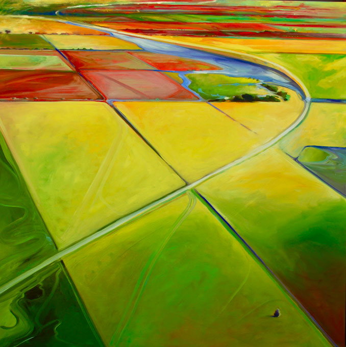 Above the Roadway landscape painting by Francene Christianson