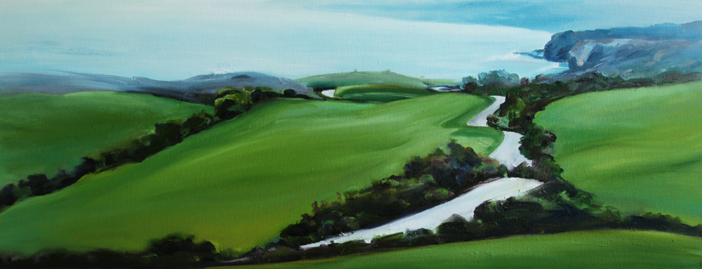 Coast Highway Green, painting by Francene Christianson