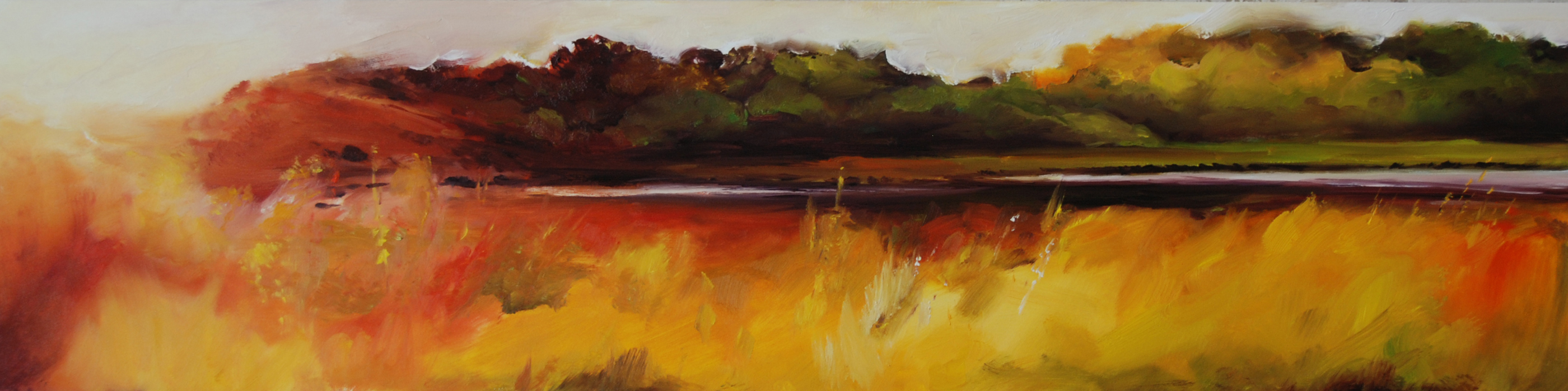 Deep Haven Minnesota near Lake Minnetonka landscape painting by Francene Christianson