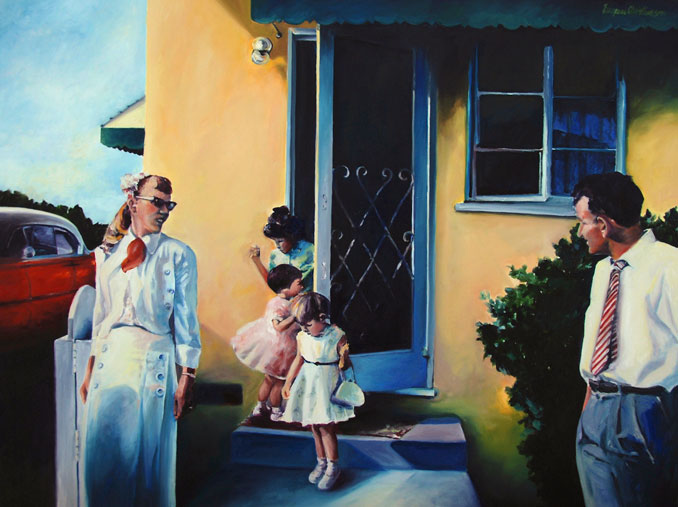 nostalgic oil paintings by Francene Christianson