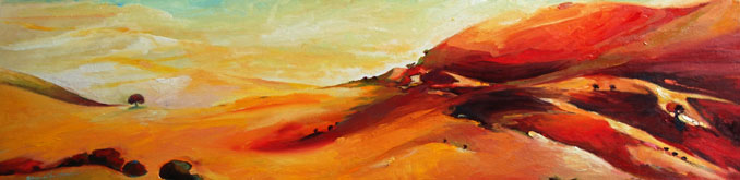 Glaze landscape of California wine country original oil painting by Francene Christianson