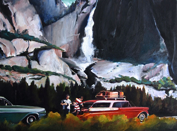 Grab Me a Coke nostalgic oil paintings of 1960's road trip to Yosemite by Francene Christiansonpaintings