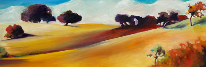 Heat Wave original landscape painting by Francene Christianson