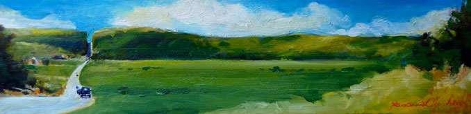 Wisconsin landscape painting by Francene Christianson