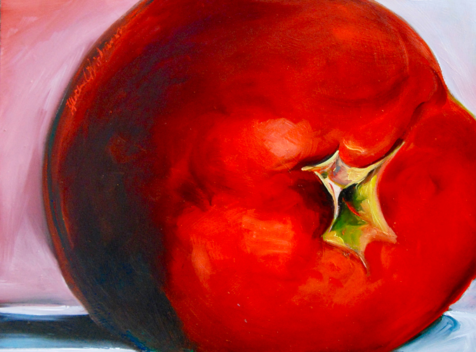 Home Grown tomato original oil painting by Francene Christianson