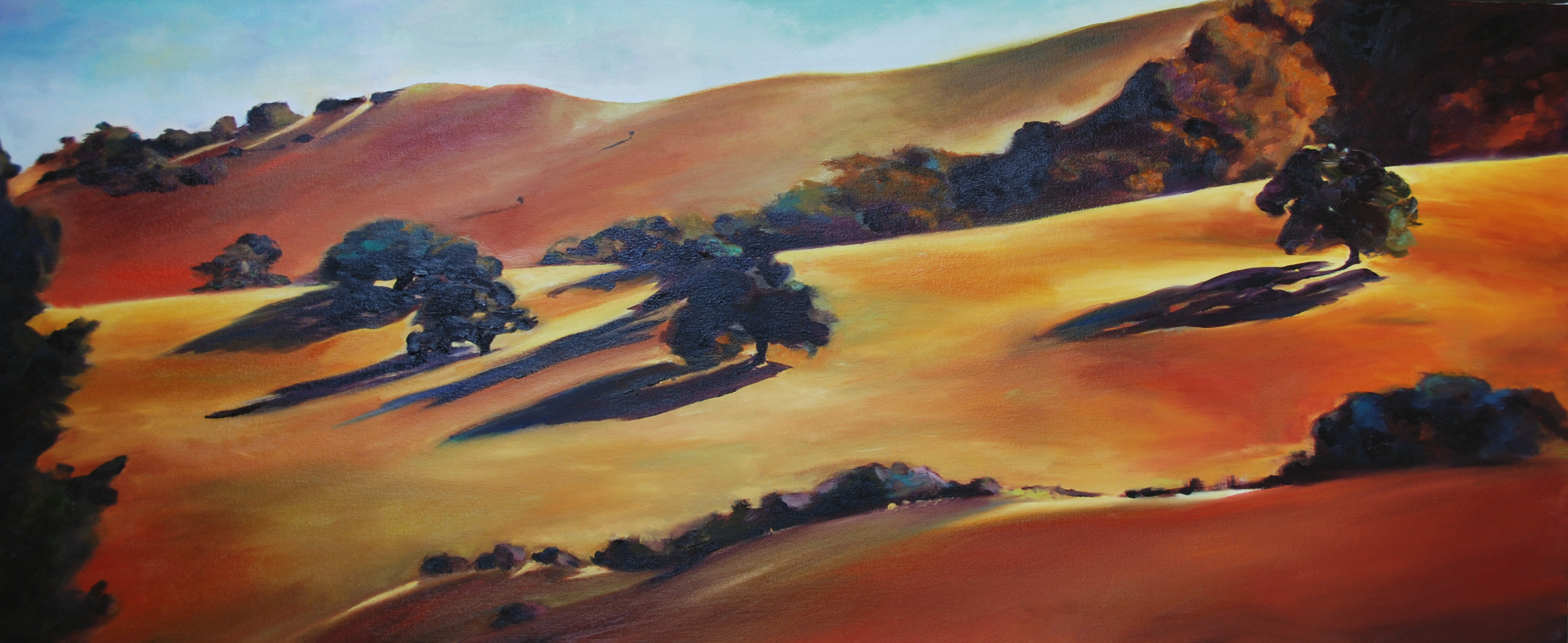 Late in July Santa Ynes Valley painting by Francene Christianson