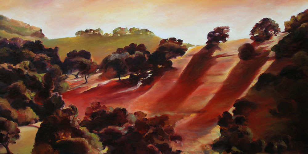 painting of passing views by Francene Christianson