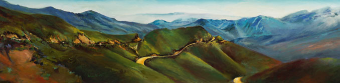 Long Winding Road Los Padres National Forest oil painting byFrancene Christianson