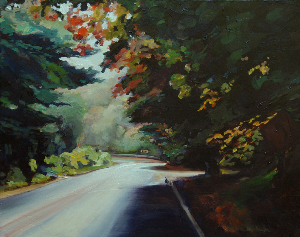 Minnetonka Blvd painting by Francene Christianson