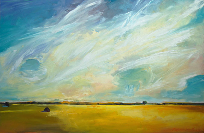 Prairie Sky original landscape painting by Francene Christianson