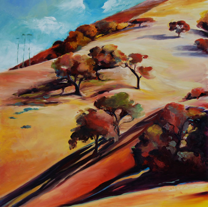 Ruby Hills original landscape painting by Francene Christaianson