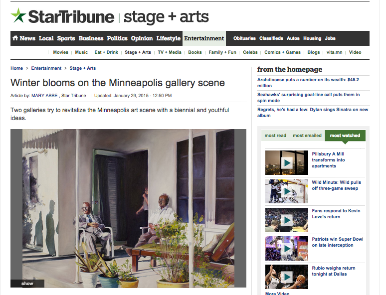 Mary Abbe review of Francene Christianson in the Star Tribune
