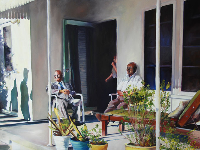 Sunday on the Porch oil painting by Francene Christianson