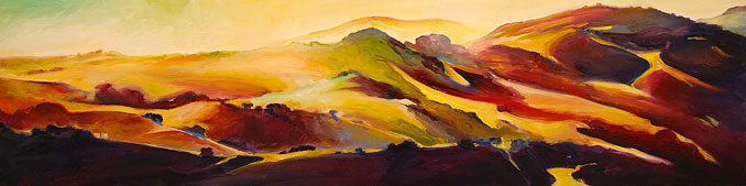 Sycamore Canyon Avila Beach San Luis Obispo landscape painting by Francene Christianson