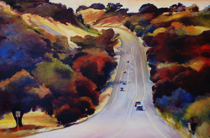 landscape painting by Francene Christianson
