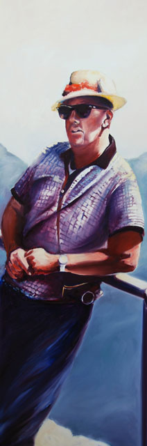 portrait painting of Bruce by Francene Christianson