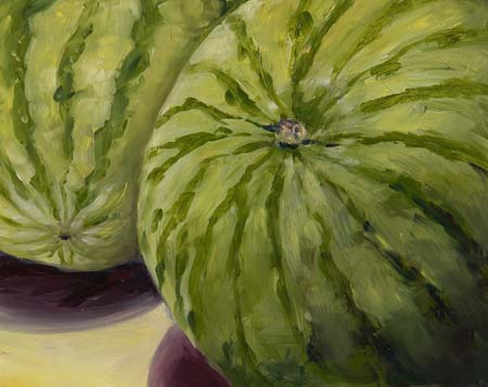 Watermelon painting by Francene Christianson