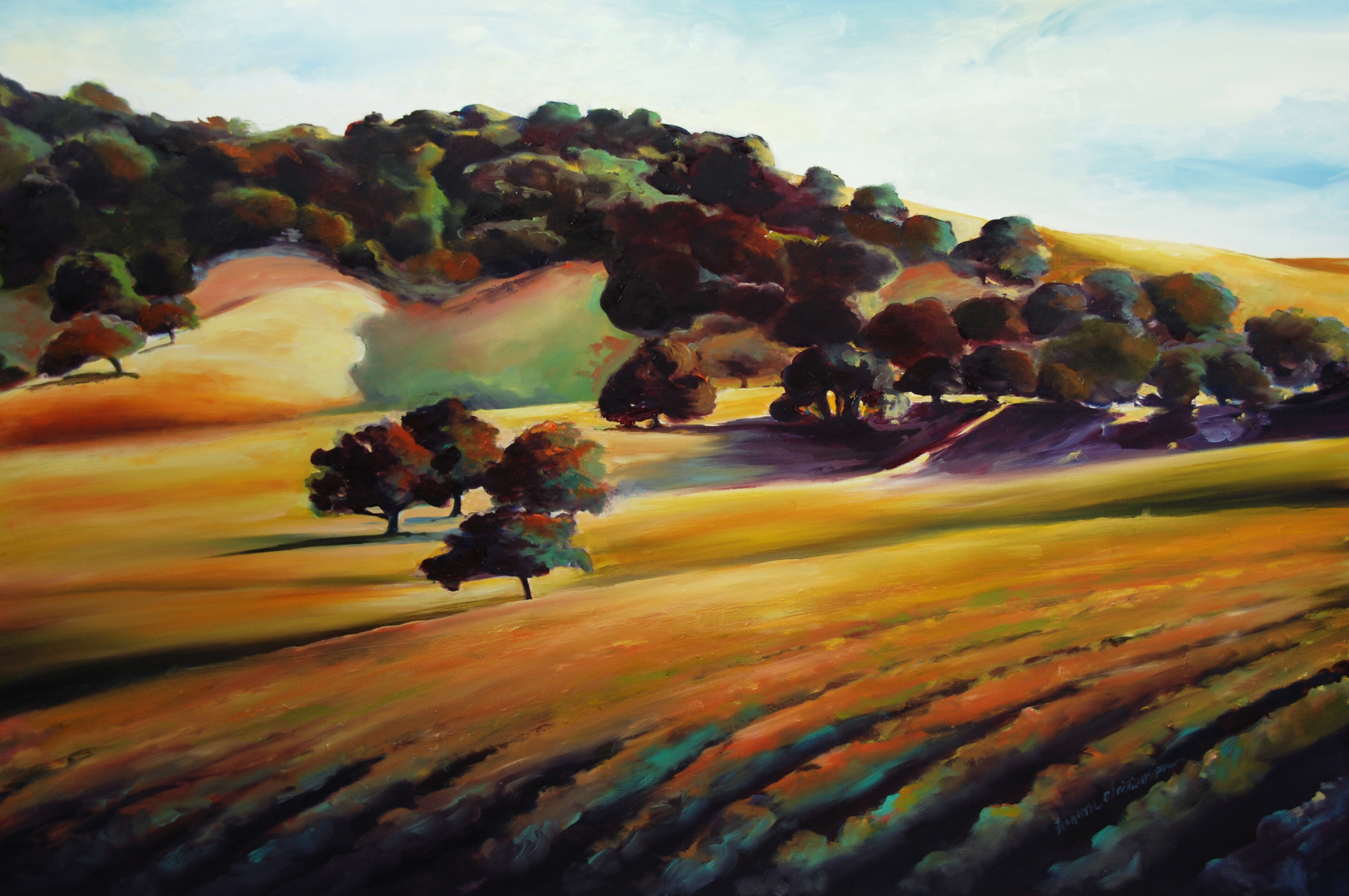 California wine country landscape painting by Francene Christianson