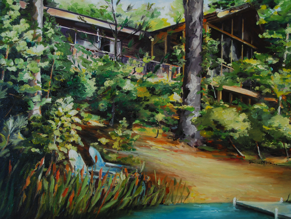 Cabin in Michigan  oil painting by Francene Christianson