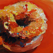 Painting of a donut by Francene Christianson