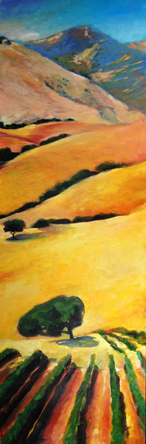 Vineyard on the Hill original oil painting by Francene Christianson